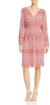 Foxcroft Liza Geo Print Crepe Dress