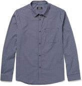 A.P.C. Chemise Checked Cotton-poplin Shirt - Navy