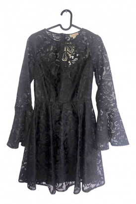 Frock and Frill Black Polyester Dresses