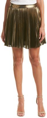 Haute Hippie Metallic A-Line Skirt
