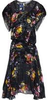 Preen by Thornton Bregazzi Leonora Asymmetric Floral-print Burnout Silk-blend Midi Dress