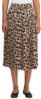 Kate Spade Forest Feline Midi Skirt (Silt) Women's Skirt