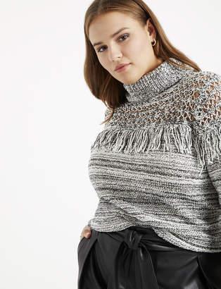 Marled Sweater with Yoke