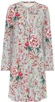 Etro Floral crepe de chine dress
