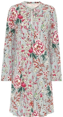 Etro Floral crepe de chine dress