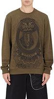 Givenchy Men's Money-Print Fleece Sweatshirt-DARK GREEN