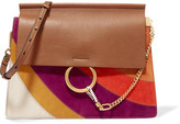 Chloé Faye Medium Leather And Suede Shoulder Bag - Light brown