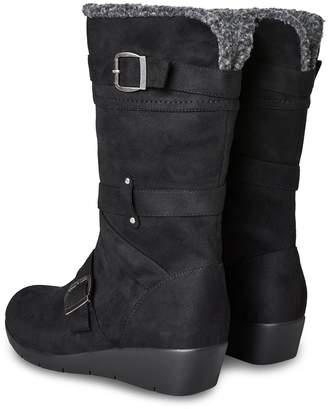 Joe Browns Snazzy and Snug Wedge Boots - Black