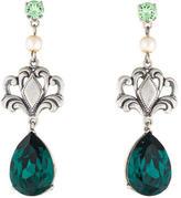 Tom Binns Crystal & Pearl Drop Earrings