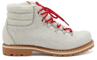 Montelliana Marlena Calf Hair Hiking Boots - Womens - White