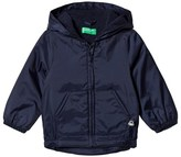 Benetton Navy Rain Defender Windbreaker Jacket