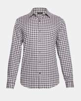Theory Cotton Check Clean Shirt