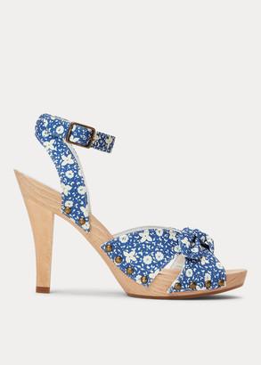 Ralph Lauren Floral Canvas Clog Sandal
