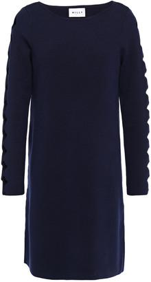 Milly Cutout Scalloped Stretch-knit Mini Dress