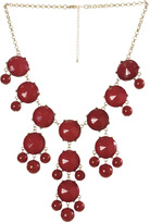 Arden B Red Bubble Necklace