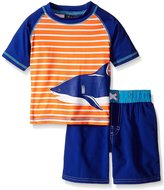 iXtreme Baby Stripe with Shark Rash Guard Set