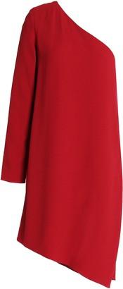 Theory One-shoulder Crepe Mini Dress