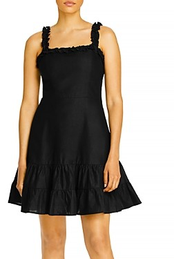 Aqua Ruffled Strap Mini Dress - 100% Exclusive