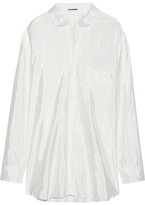 Jil Sander Oversized Satin Shirt - White