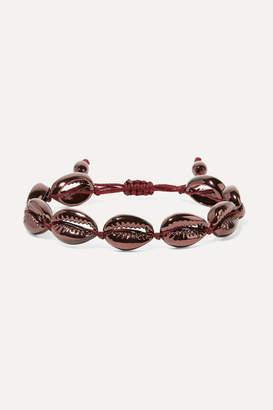 Puka Tohum - Medium Faux Shell Bracelet - Burgundy