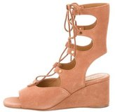 Chloé Lace-Up Suede Sandals w/ Tags