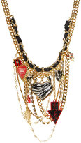 Taxi Girl Multi Layered Charm Necklace