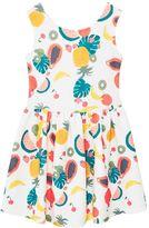 MANGO Girls Textured printed dress
