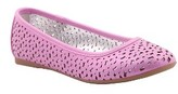 Nina Girl's Beth Perforated Flat