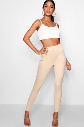 boohoo Basic Scuba Skinny Stretch Pants