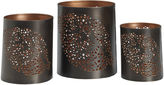 Asstd National Brand Luminaries Leaf Punch 3-pc. Candle Holder Set
