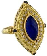 Armenta 18K Lapis Doublet, Sapphire & Diamond Cocktail Ring