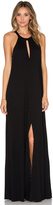 Lanston Slit Halterneck Maxi Dress