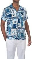 Caribbean Joe Waikiki Tiki Camp Shirt - Short Sleeve (For Men)