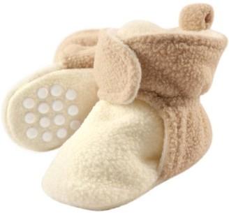 Luvable Friends Hudson Baby Newborn Unisex Cozy Fleece Booties