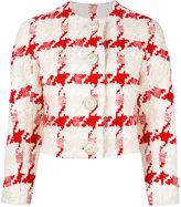 Alexander McQueen houndstooth cropped jacket