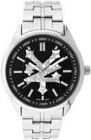 Zoo York Mens Silvertone And Black Dial Bracelet Watch