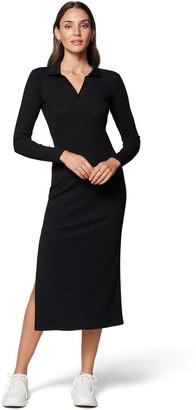 Forever New Parker Long Sleeve Rib Polo Dress