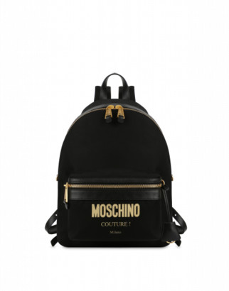 Moschino Couture Nylon Backpack Woman Black Size U It - (one Size Us)