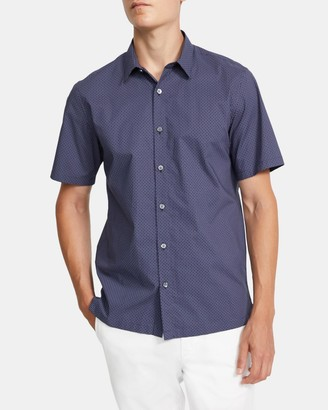 Theory Irving Short-Sleeve Shirt in Printed Cotton
