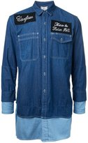 Miharayasuhiro patches layered denim shirt - men - Cotton - 46
