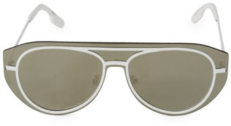 Kenzo 32MM Metal Shield Sunglasses