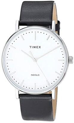 Timex 41 mm Fairfield 3-Hand (Silver/White/Black) Watches