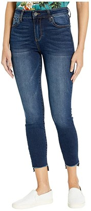 KUT from the Kloth Connie High-Rise Ankle Skinny Step Fray Hem (Phase Wash) Women's Casual Pants