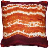 Kim Salmela Tie Dye 20x20 Linen Pillow, Orange