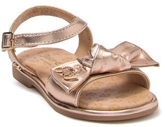 Juicy Couture Rodeo Knotted Bow Sandal (Toddler)