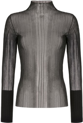 Dion Lee Sheer Pleated Top