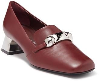 Burberry Amika Leather Block Heel Pump