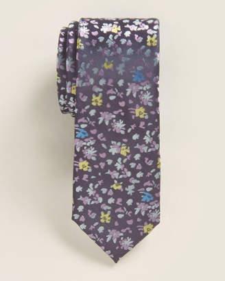 Isaac Mizrahi Boys 8-20) Purple & Yellow Floral Tie