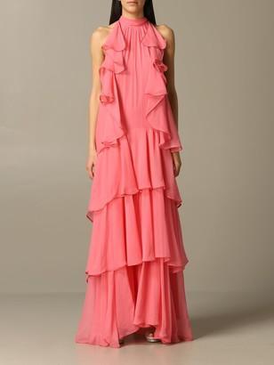 Alberta Ferretti Long Dress With Flounces