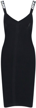 Off-White Sleeveless Bodycon Dress